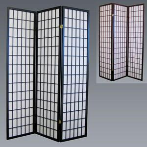 3 Panel Wood Room Divider - Cherry