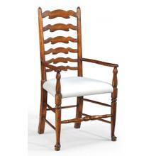 Walnut country ladder back chair (Cushion)