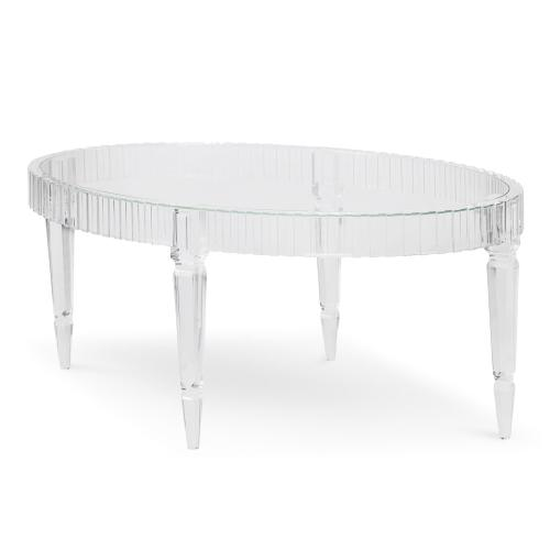 Fluted Oval Cocktail Table