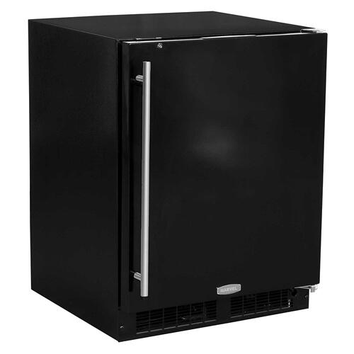 24-In Low Profile Built-In All Refrigerator With Maxstore Bin with Door Style - Black, Door Swing - Right