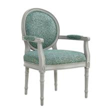 Upholstered Animal Seat and Back Accent Chair, Light Grey