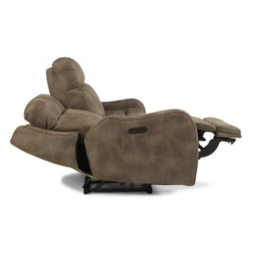 Springfield Power Reclining Sofa with Power Headrests