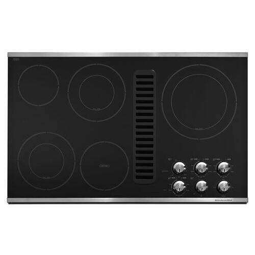 """Gallery - KitchenAid® 36"""" Downdraft Electric Cooktop with 5 Elements - Stainless Steel"""