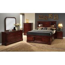 King Sleigh Headboard, Cherry