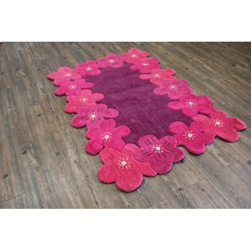 Soft Hand Carved Kids Zoomania Sunshine Area Rug by Rug Factory Plus - 4' x 6' / Pink Purple