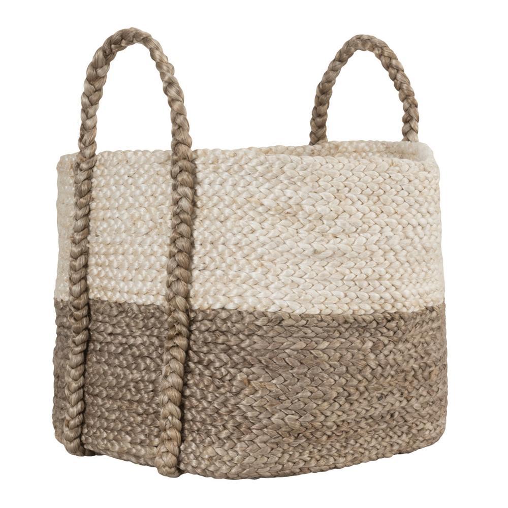 See Details - Jute Basket Ivory/Gray