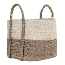 View Product - Jute Basket Ivory/Gray