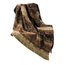 Sierra Red, Brown U0026 Tan Chenille Throw Blanket