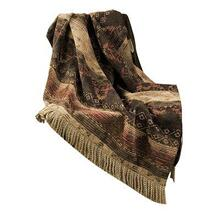 Sierra Red, Brown & Tan Chenille Throw Blanket, 50x60
