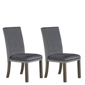 Trenton 2-Pack Upholstered Side Chairs, Grey