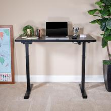 "Electric Height Adjustable Standing Desk - Table Top 48"" Wide - 24"" Deep (Black)"