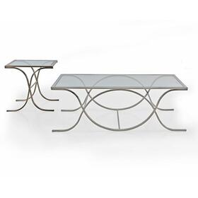 Glass SILVER Rectangular Coffee Table