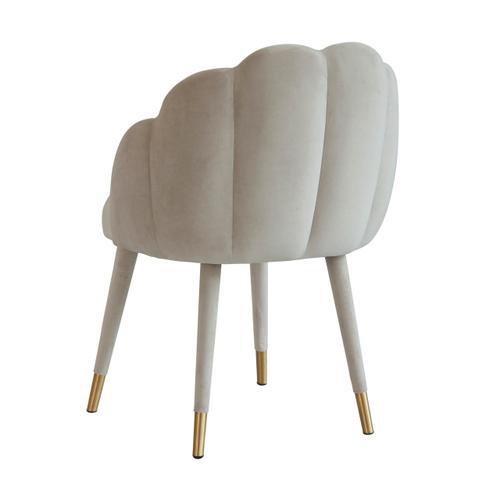 Tov Furniture - Gardenia Light Grey Velvet Dining Chair