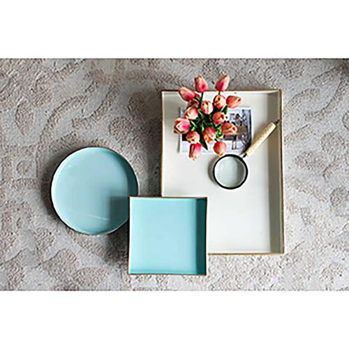 Gallery - Mimosa Square Tray,Powder Blue