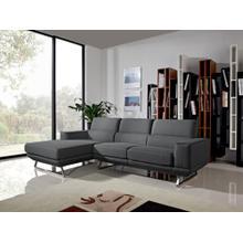 Divani Casa Becket Modern Dark Grey Fabric Sectional Sofa