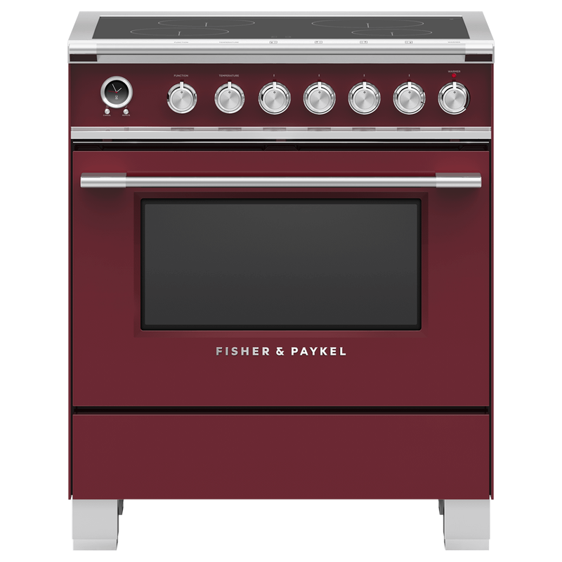 """Induction Range, 30"""", 4 Zones, Self-cleaning"""