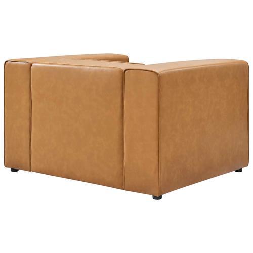 Modway - Mingle Vegan Leather Armchair in Tan