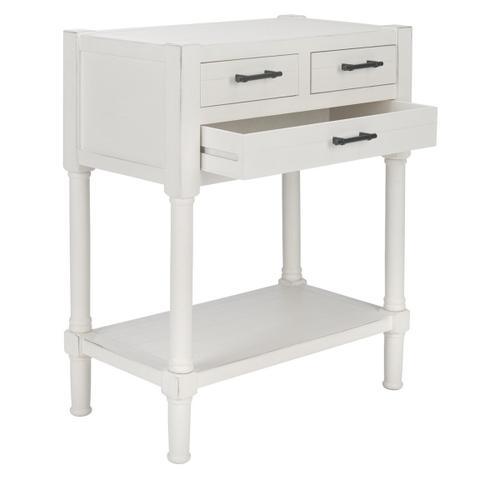 Safavieh - Filbert 3 Drawer Console Table - Distressed White