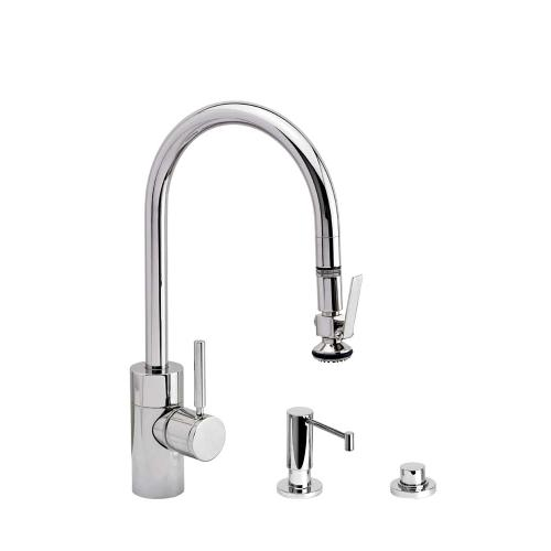 Contemporary PLP Pulldown Faucet 3pc. Suite - 5800-3 - Waterstone Luxury Kitchen Faucets