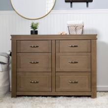 See Details - Stablewood Wesley Farmhouse 6-Drawer Double Dresser
