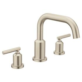 Gibson brushed nickel two-handle roman tub faucet