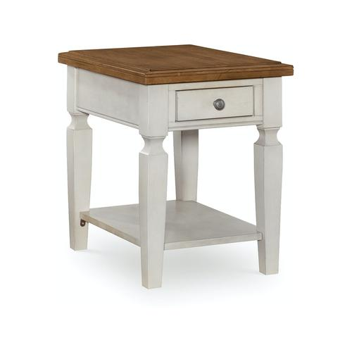 John Thomas Furniture - End Table in Hickory & Shell