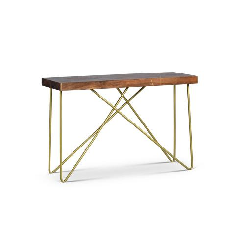 Walter Brass Inlay Sofa Table