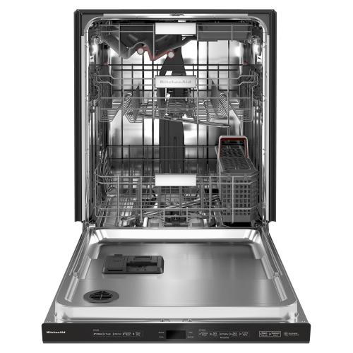 44 dBA Dishwasher with FreeFlex Third Rack and LED Interior Lighting - Black Stainless Steel with PrintShield™ Finish