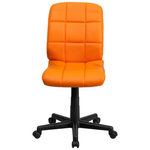 Gallery - Mid-Back Orange Quilted Vinyl Swivel Task Office Chair