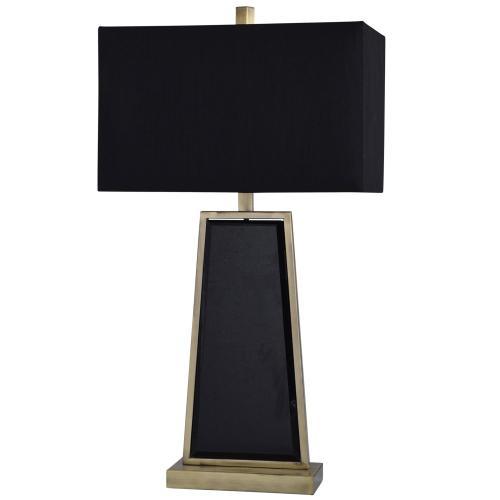 Ealing  30in Jane Seymour Branded Metal & Mirror Table lamp  100 Watts  3-Way