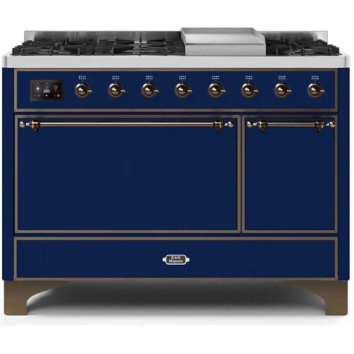 "48"" Inch Blue Liquid Propane Freestanding Range"
