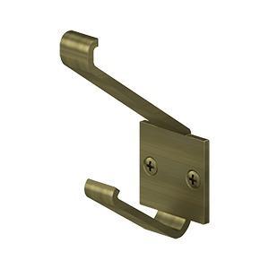"Deltana - Modern Hook, 2-1/4"" Projection - Antique Brass"