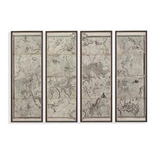 Map of London Panels Set of 4