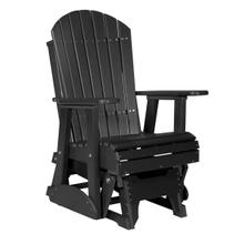 See Details - 2 Adirondack Glider Chair, Black