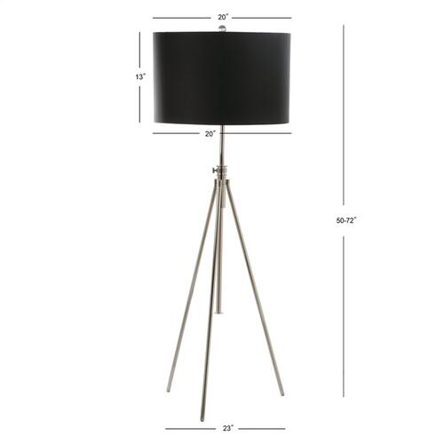 Cipriana Adjustable Floor Lamp - Nickel