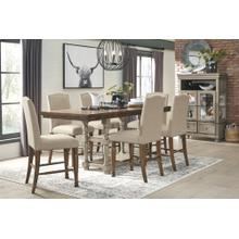 6 Piece Set (Pub Table, 4 Barstools and Pub Bench)