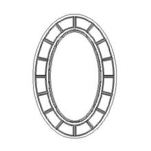 Oval antique gold mirror ( glomise)