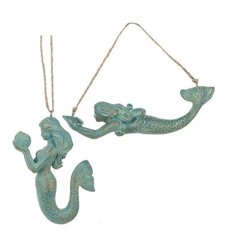 Mermaid Ornaments (2 asstd)