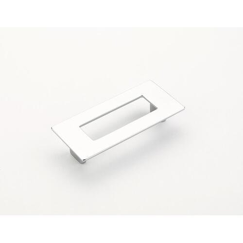 Finestrino, Pull, Rectangle, Polished Chrome, 96 mm cc