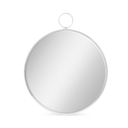 Avalone Wall Mirror in Nickel Finish