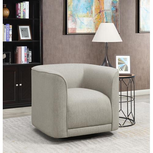 Whirlaway Swivel Accent Chair, Parchment Gray U3272-04-13