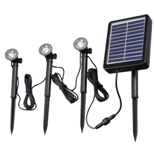 3 Light Solar Spotlight with Remote Panel - 3 Light Solar Spotlight with Remote Panel