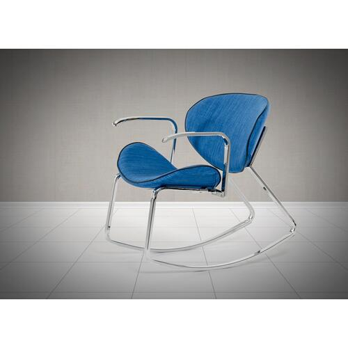 Corvallis - Modern Blue Fabric Rocking Arm Chair (Set of 2)