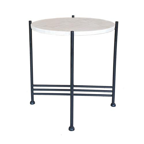 A & B Home - White Marble Table