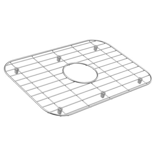 Moen stainless center drain grid