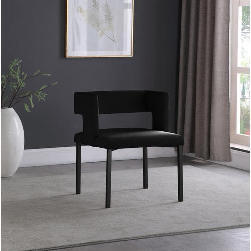 "Caleb Velvet Dining Chair - 23"" W x 21"" D x 30"" H"