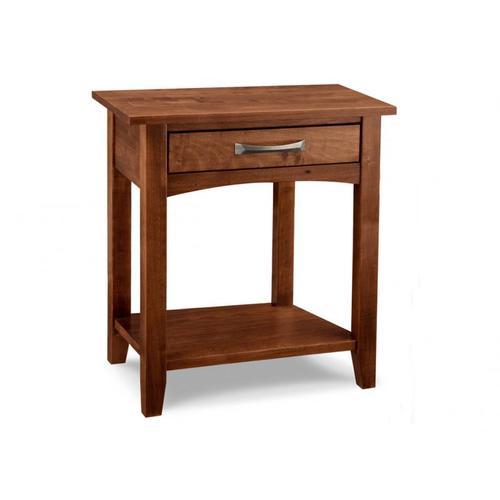 Handstone - Glengarry 1 Drawer Open Night Stand with Shelf