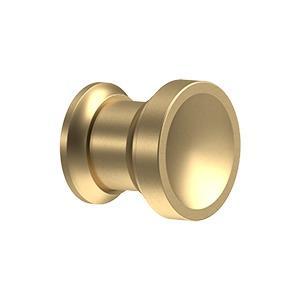 "Deltana - Contemporary Knob, Chalice, 1"" Diam. - Brushed Brass"