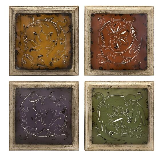 Rimona Cutwork Metal Tiles - Set of 4