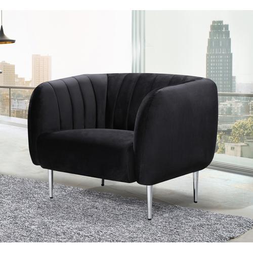 "Willow Velvet Chair - 41"" W x 33"" D x 31.5"" H"